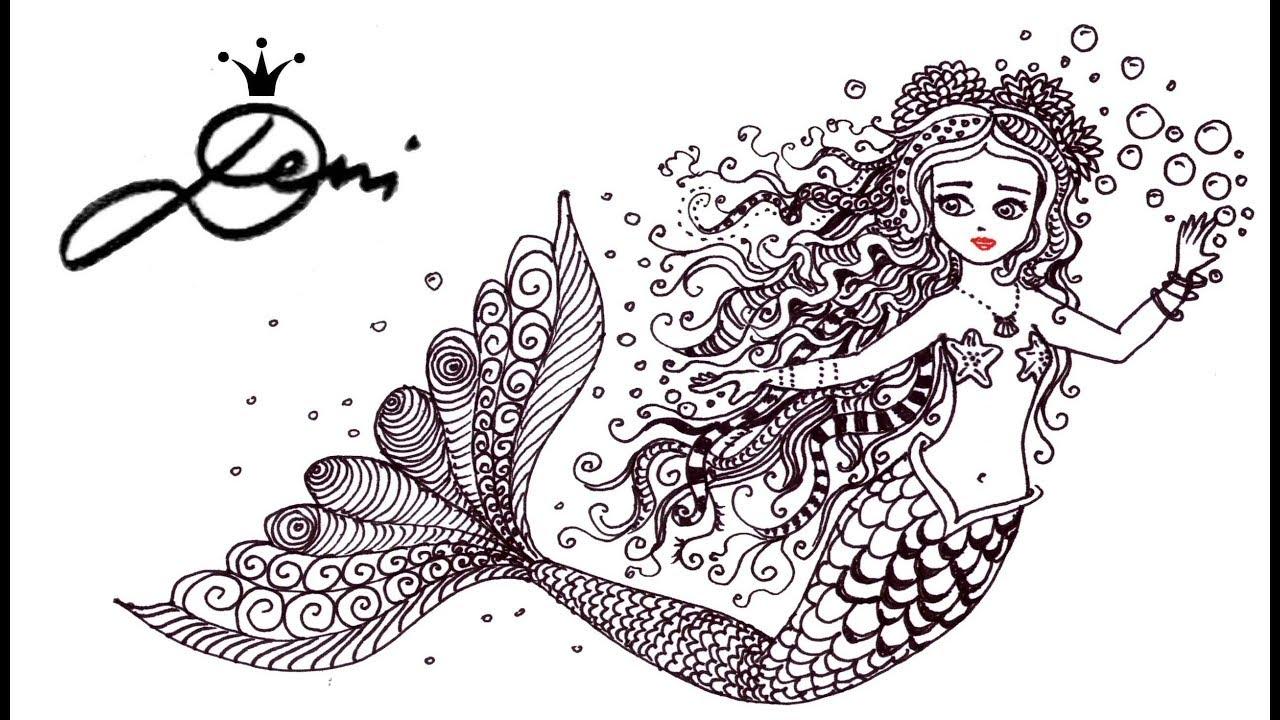 Meerjungfrau Zeichnen