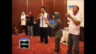 Motivasi Senam Pintar MCB Borneo on TVRI Palangkaraya Indonesia Stevie Lengkong