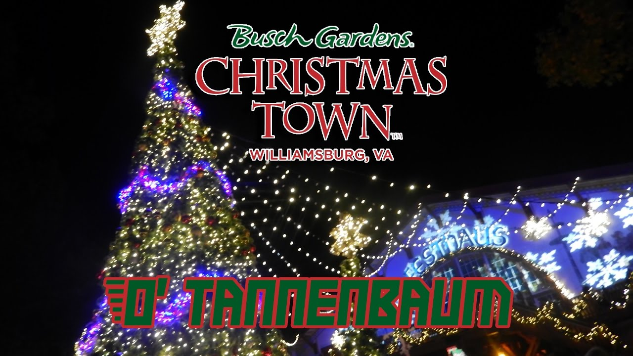 o tannenbaum at busch gardens williamsburgs christmas town 2016 full show