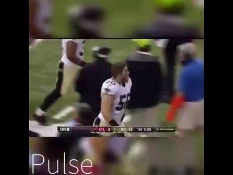 """Saints Blocked Punt TD Against The Falcons """"EDIT"""""""