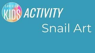 snail art project