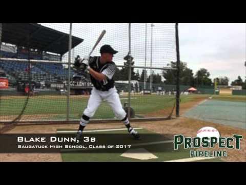 Blake Dunn, 3b, Saugatuck High School Class of 2017, Swing Mechanics at 200 FPS