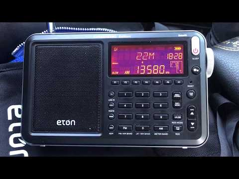 Eton Satellit sensitivity on the whip: Radio Bangladesh Betar 13580 kHz, Dhaka