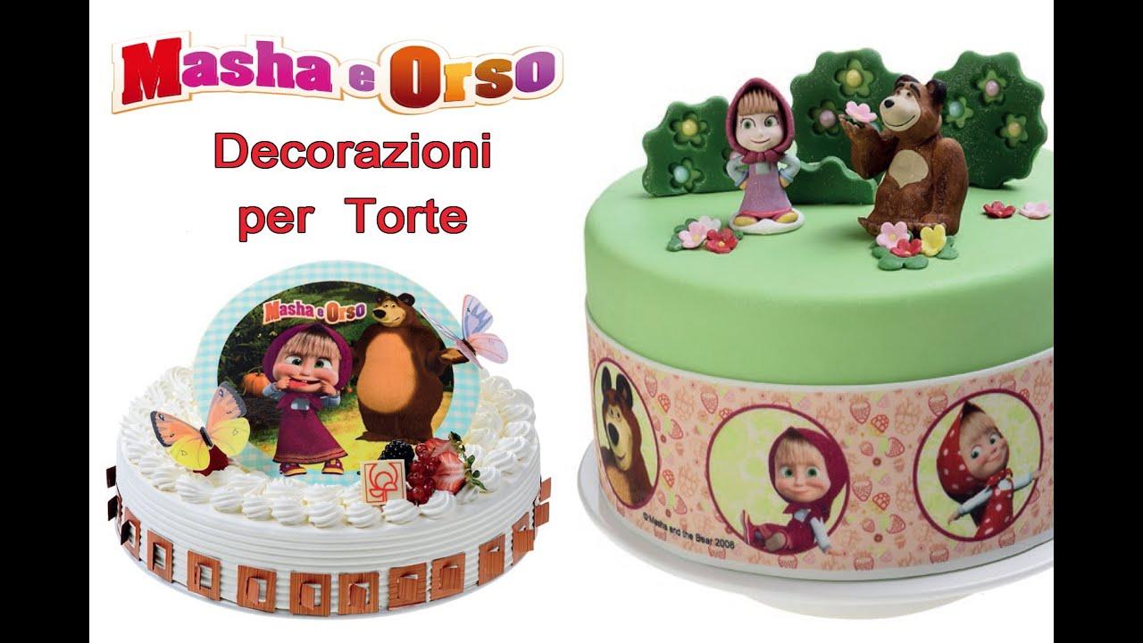 Decorazioni per torte masha e orso per festa compleanno a - Decorazioni natalizie per torte ...