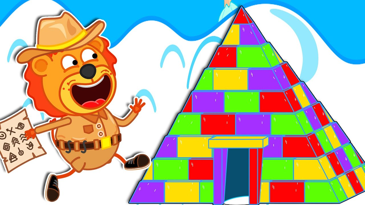 Lion Family Official Channel ㊙️ Secret of Pyramid | Cartoon for Kids