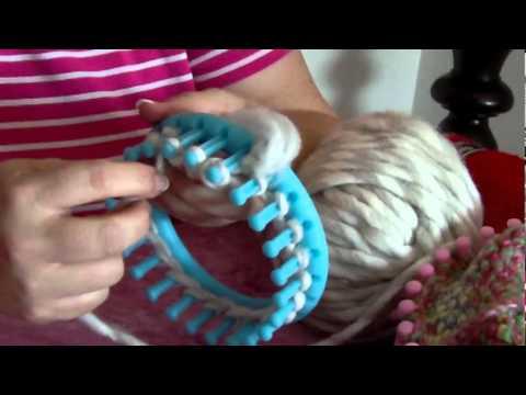 Stricken mit dem Strickring - YouTube