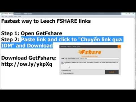 Fastest way to Download from FSHARE [HD 720p]