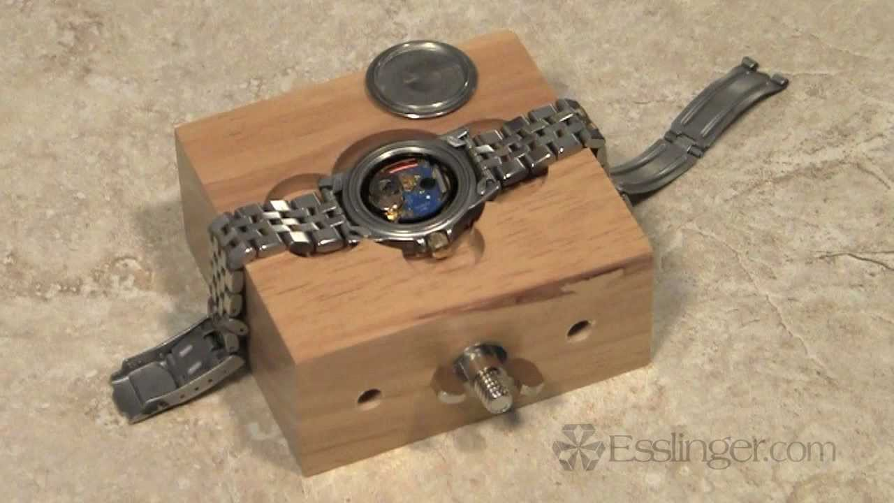 Watchmakers Wood Watch Holder - YouTube