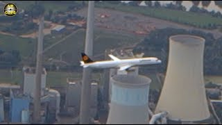 STUNNING FOOTAGE! Air-to-Air with an Airbus A321 during FULL final approach! [AirClips]