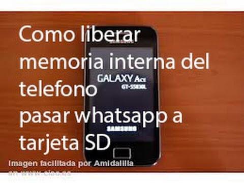 tarjeta de memoria whatsapp