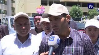 مزارعون يعتصمون أمام رئاسة الوزراء احتجاجا على أوضاع القطاع (14-7-2019)