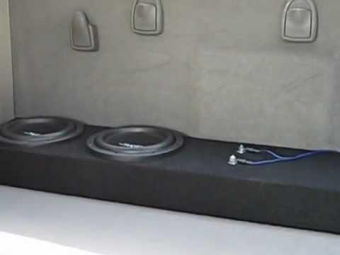 Two Skar Audio VVX 8s on approximately 1000watts.