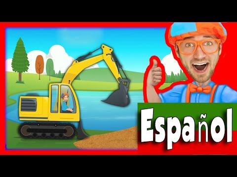 Vehículos de construcción para niños con Blippi | La canción de la Excavadora