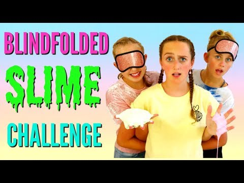 BLINDFOLDED NOT MY ARMS SLIME CHALLENGE - With A Twist! Collab Lily April Rose
