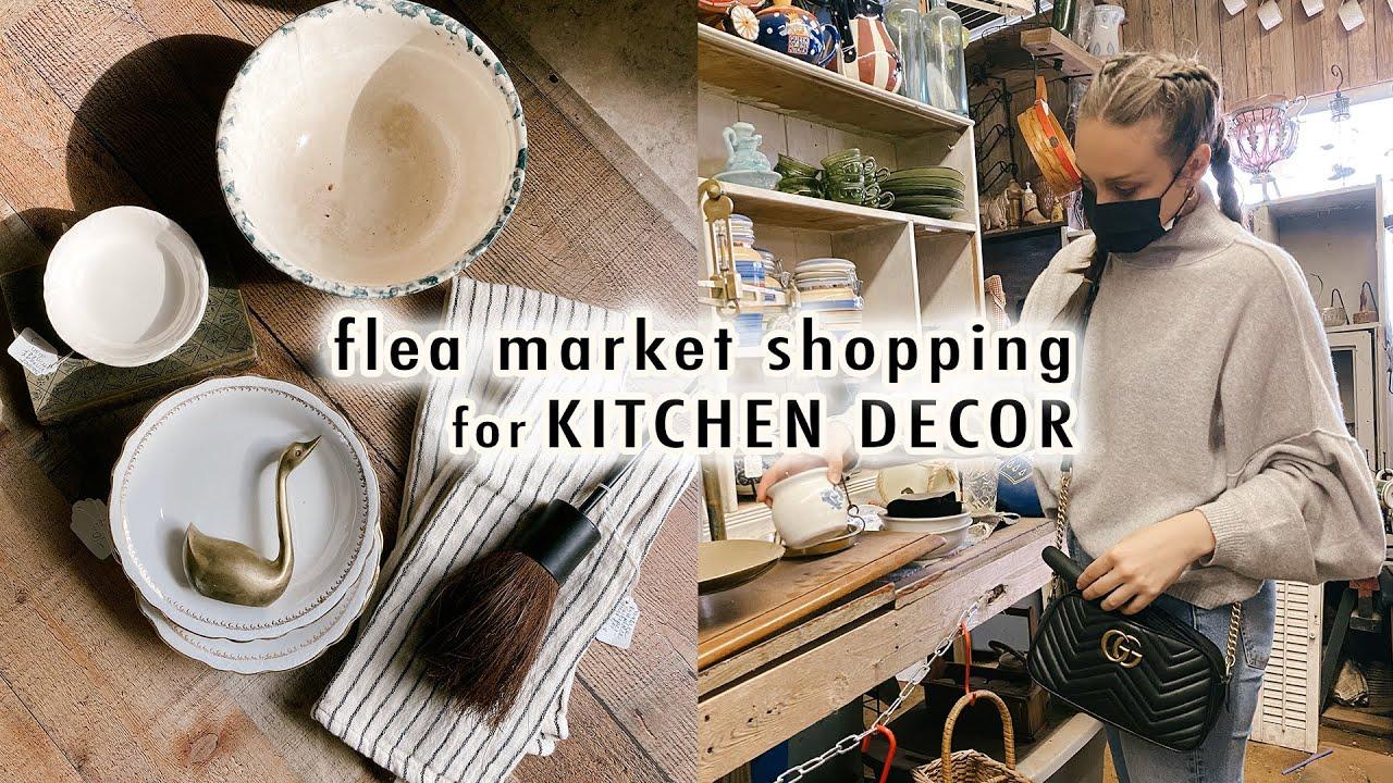 flea market shopping for KITCHEN DECOR + Haul | XO, MaCenna Vlogs