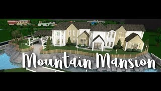 Roblox | Bloxburg:Mountain Mansion | Speedbuild + Tour