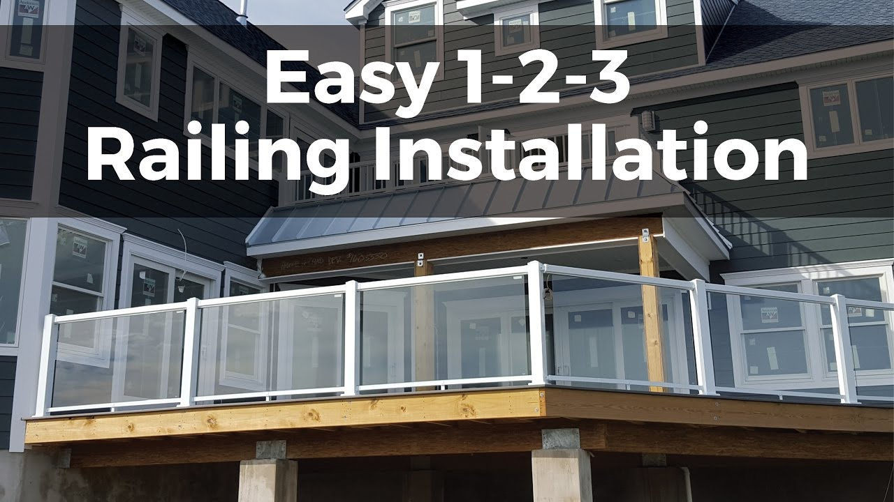 Easy 1 2 3 Installation | Regal Ideas Aluminum Railing