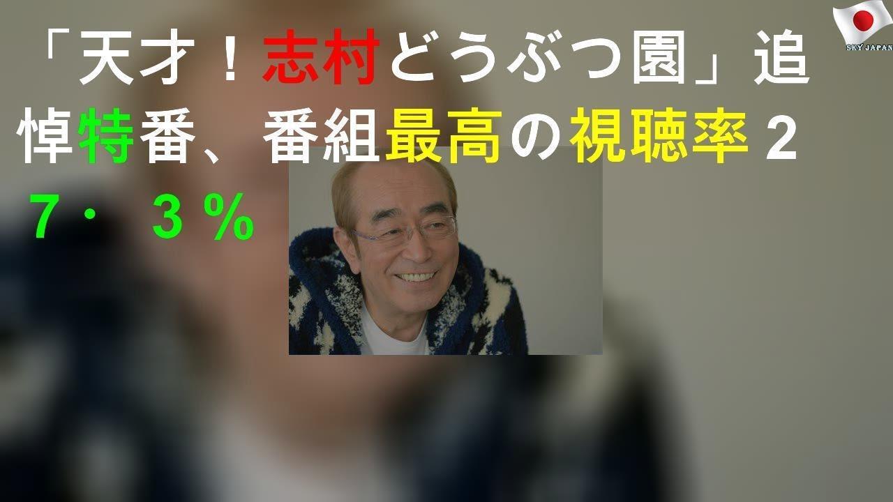 志村 動物園 視聴 率