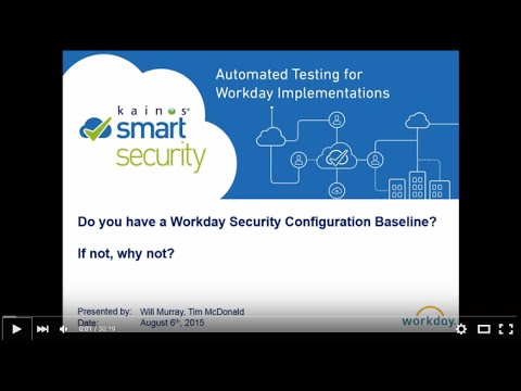 Do you have a Workday security configuration baseline?
