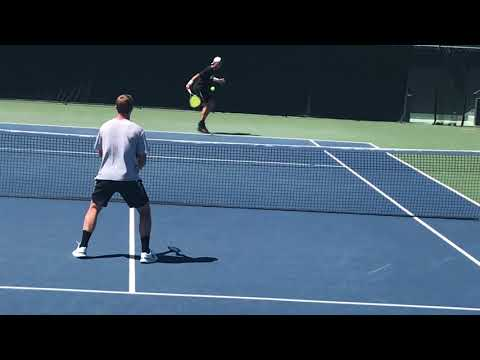 Stanford Men's Tennis Pre-Match Warmup 4-21-18