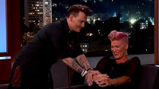 WATCH: Pink Loses It Meeting Her Celebrity Crush: Johnny Depp!