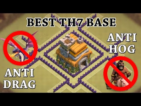 Clash Of Clans - TH7 WAR BASE! | CoC BEST TOWN HALL 7 DEFENSE! (WITH 3 AIR DEFENSES!)