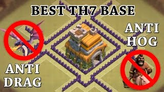 "Clash Of Clans - TH7 WAR BASE! | CoC BEST TOWN HALL 7 DEFENSE! (WITH 3 AIR DEFENSES!) ""NEW UPDATE!"""