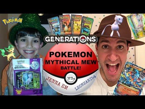 Jenna Em VS. Leonhart! Pokemon Mythical Mew Collection Box!
