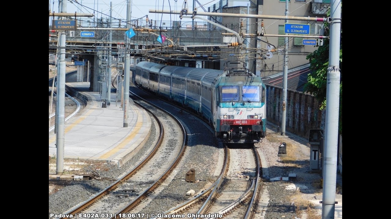 Treni ripresi dall 39 alto della stazione di padova 18 06 for Affitti cabina della domenica