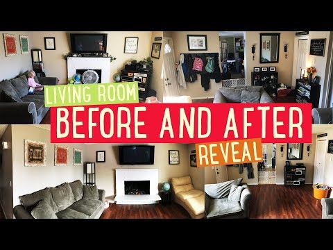 Minimalist Family of 8   Living Room Before and After Reveal 🙌