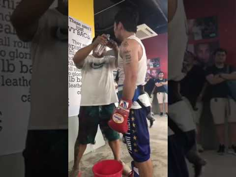 Manny Pacquiao Jeff Horn training long session