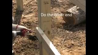 Diy Build A Fence Yourself-how To Put On The Rails By One Person