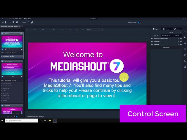 MediaShout 7 - Control Screen