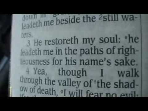 Psalm 23 King James Holy Bible
