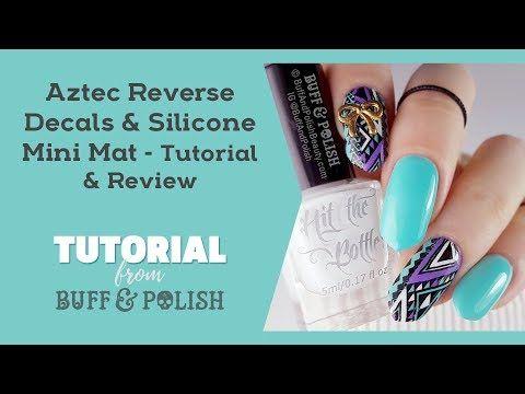 Aztec Decals Tutorial & BPS Silicone Mini Mat Review and Demo - Buff & Polish