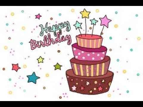How to draw a birthday card youtube how to draw a birthday card m4hsunfo