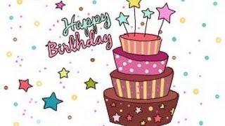 birthday draw card drawing simple cake drawings getdrawings paintingvalley