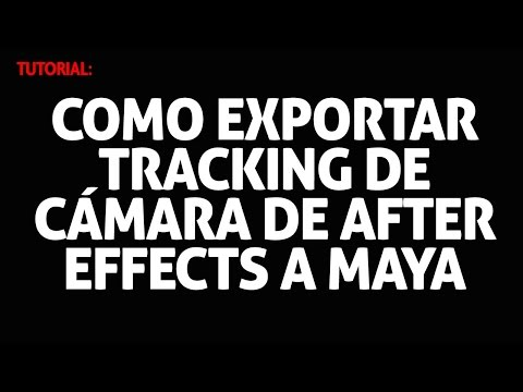 Tacking After Effects a Maya - How to Export 3D Camera to Maya [No Plugin needed]