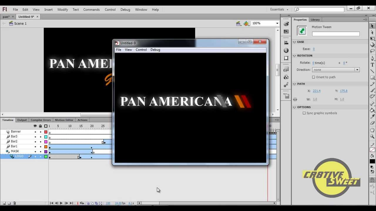 how to create an animated logo in adobe flash cs6 youtube