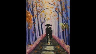 Walk in the Forest FULL LESSON Easy Acrylic Painting for Beginners Step by Step