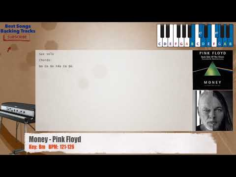 Money - Pink Floyd Piano Backing Track with chords and lyrics