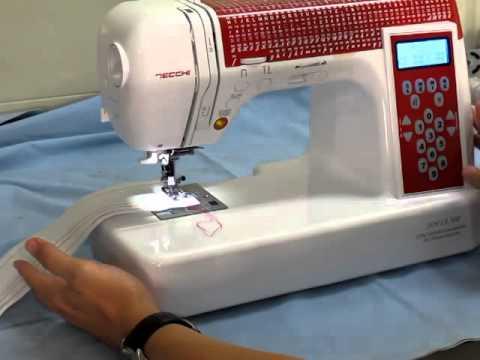 The Amazing Necchi Sofia 300 Sewing Machine Demonstration