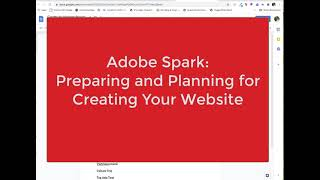 Adobe Spark: Getting Ready for Creating Your Website