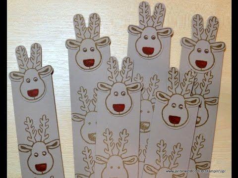 No.205 - Magnetic Reindeer Bookmarker - JanB UK Stampin' Up! Demonstrator Independent