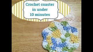 Crochet coaster in under 10 minutes