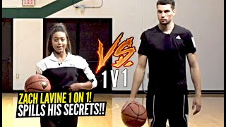 Zach LaVine SPILLS ALL HIS SECRETS During 1 V 1 Game!! What Does He Hide In His Socks DURING GAME!?