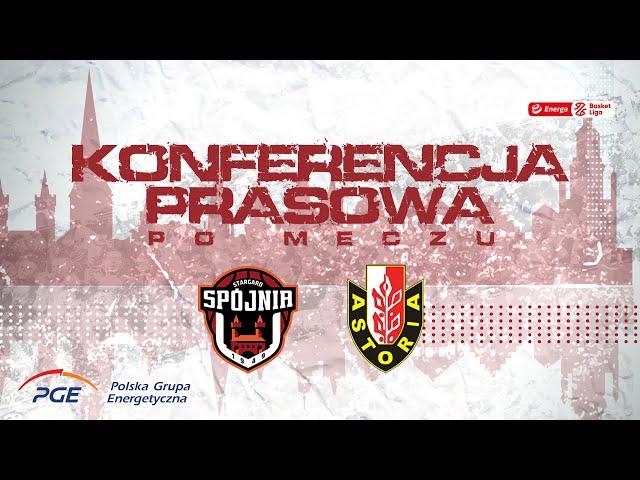 Konferencja prasowa po meczu PGE Spójnia Stargard - Enea Astoria Bydgoszcz