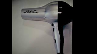 ASMR 1 hour Revlon 1875 Ionic Ceramic Hair Blower Dryer Sounds
