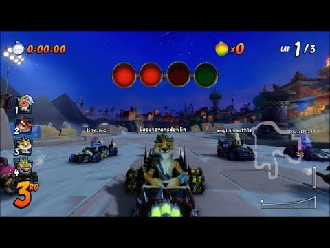 Crash Team Racing Nitro-Fueled (PS4) Online: Hunter Racing In Twilight Tour