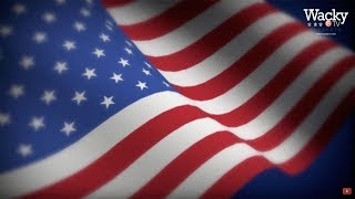 Free Video Background  - American flag waving